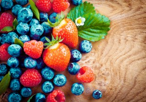 Mixed ripe autumn berries